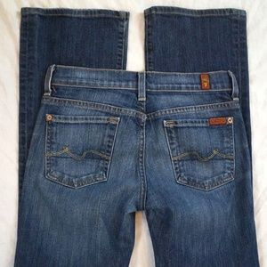 7 For All Mankind Boycut Low Rise Boot Cut Size 25